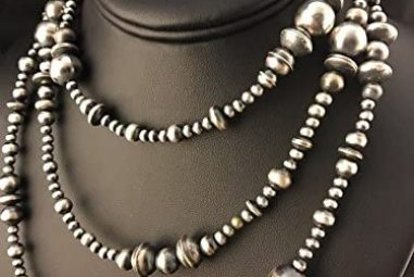 Made in USA Navajo Pearl Sterling Necklace