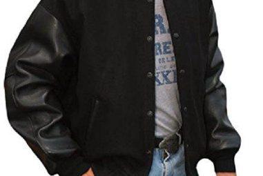 REED Men's Premium Varsity Leather Wool Jacket