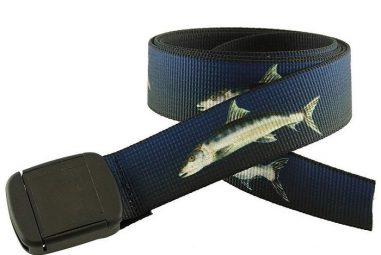 USA Made Fish Pattern Hiker Belt by Thomas Bates