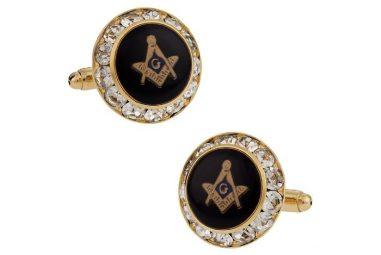 USA Made Crystal Masonic Cufflinks